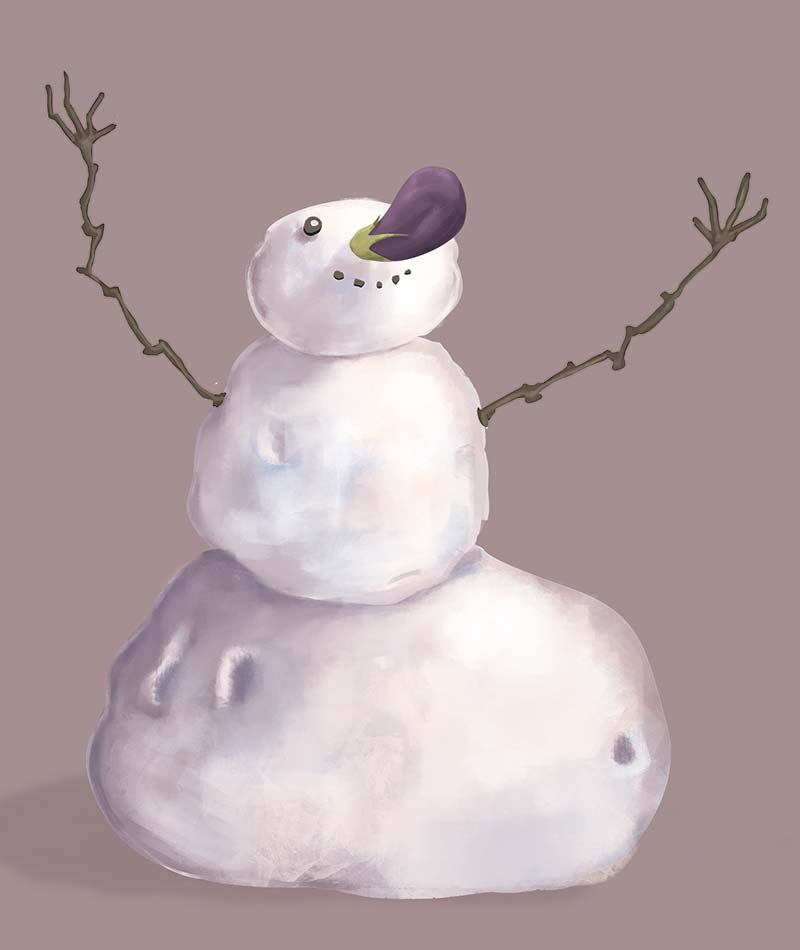 Image from project Snowman by Angela Salinero